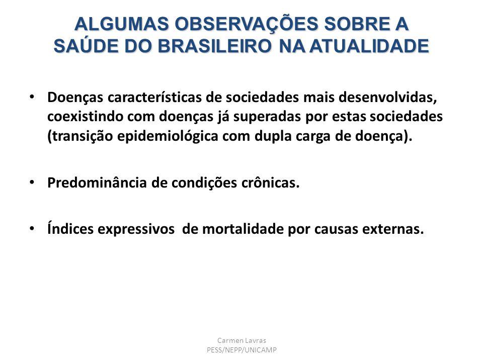 ALGUMAS OBSERVAÇÕES SOBRE A SAÚDE DO BRASILEIRO NA ATUALIDADE