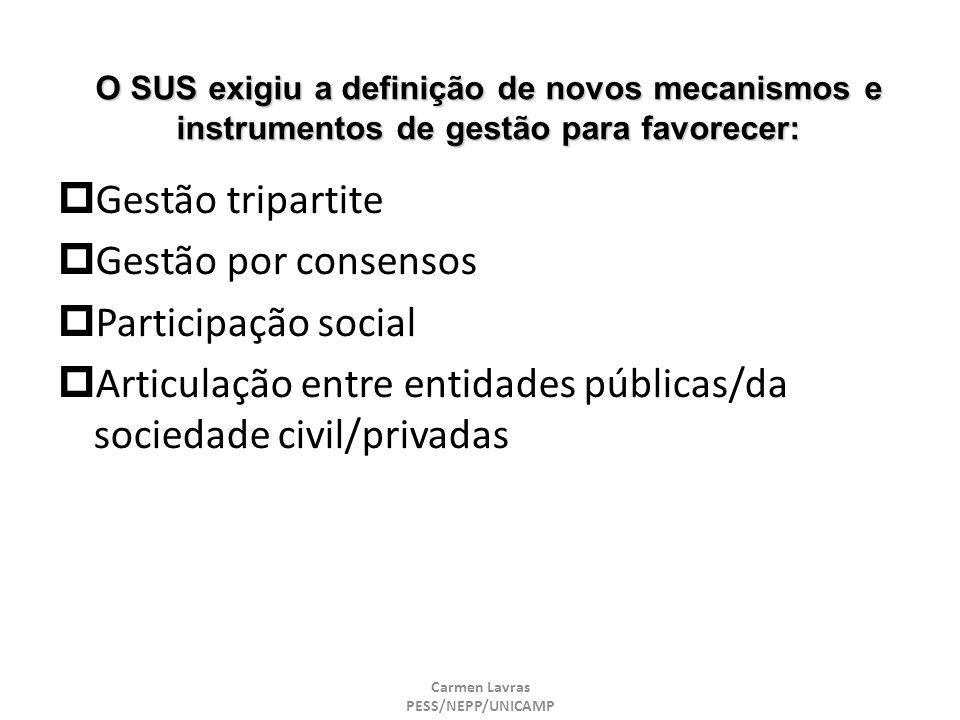 Articulação entre entidades públicas/da sociedade civil/privadas
