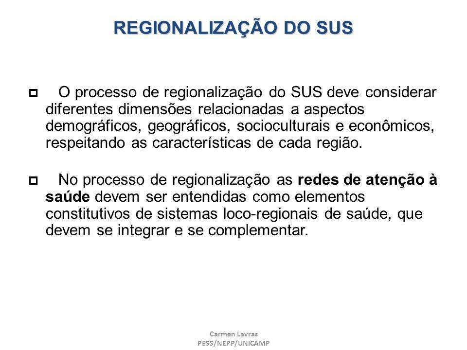 REGIONALIZAÇÃO DO SUS
