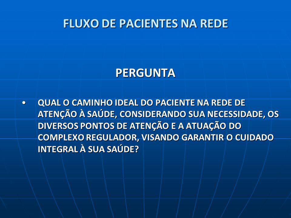 FLUXO DE PACIENTES NA REDE