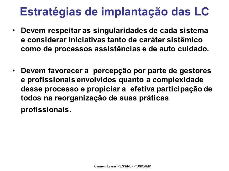 Estratégias de implantação das LC