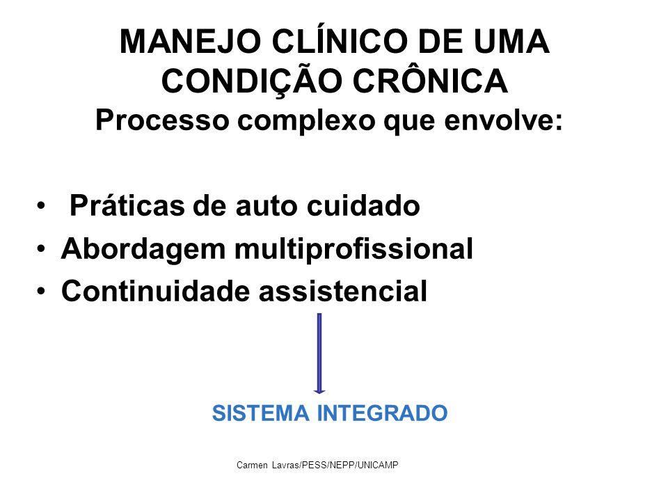 MANEJO CLÍNICO DE UMA CONDIÇÃO CRÔNICA
