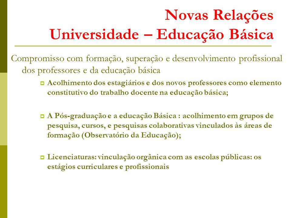Novas Relações Universidade – Educação Básica