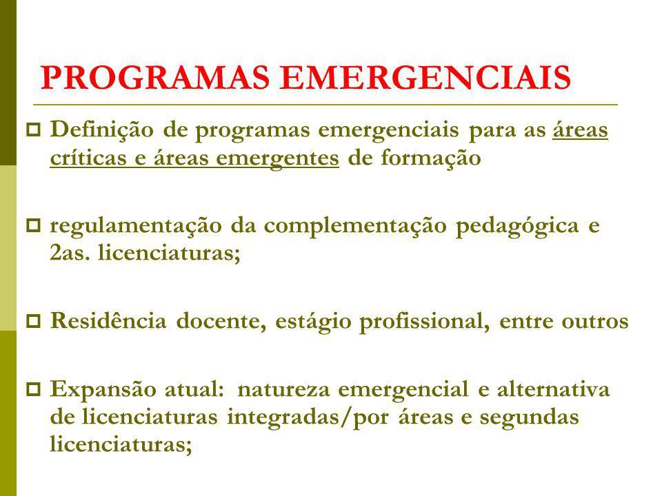 PROGRAMAS EMERGENCIAIS