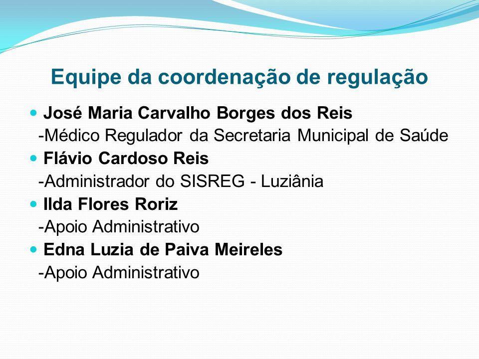 Equipe da coordenação de regulação