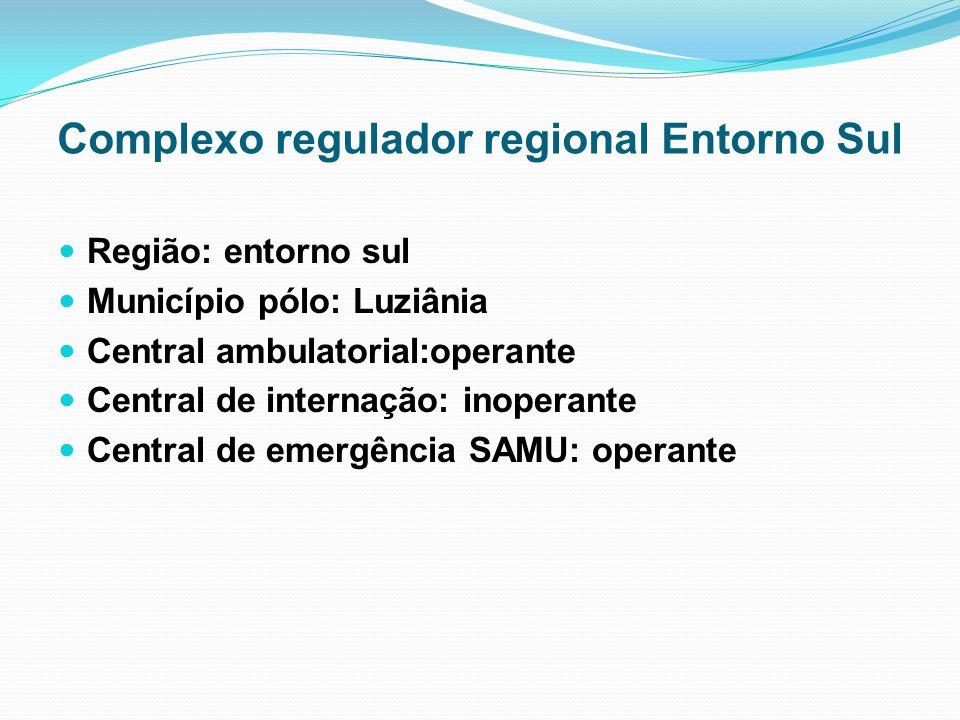 Complexo regulador regional Entorno Sul