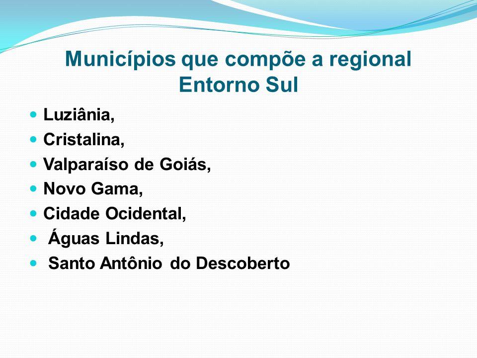 Municípios que compõe a regional Entorno Sul