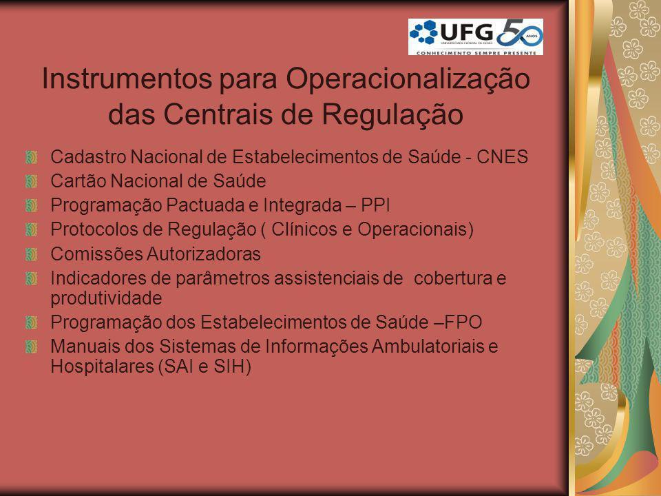 Instrumentos para Operacionalização das Centrais de Regulação