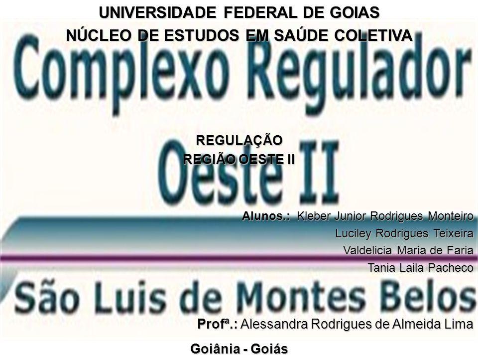 UNIVERSIDADE FEDERAL DE GOIAS NÚCLEO DE ESTUDOS EM SAÚDE COLETIVA