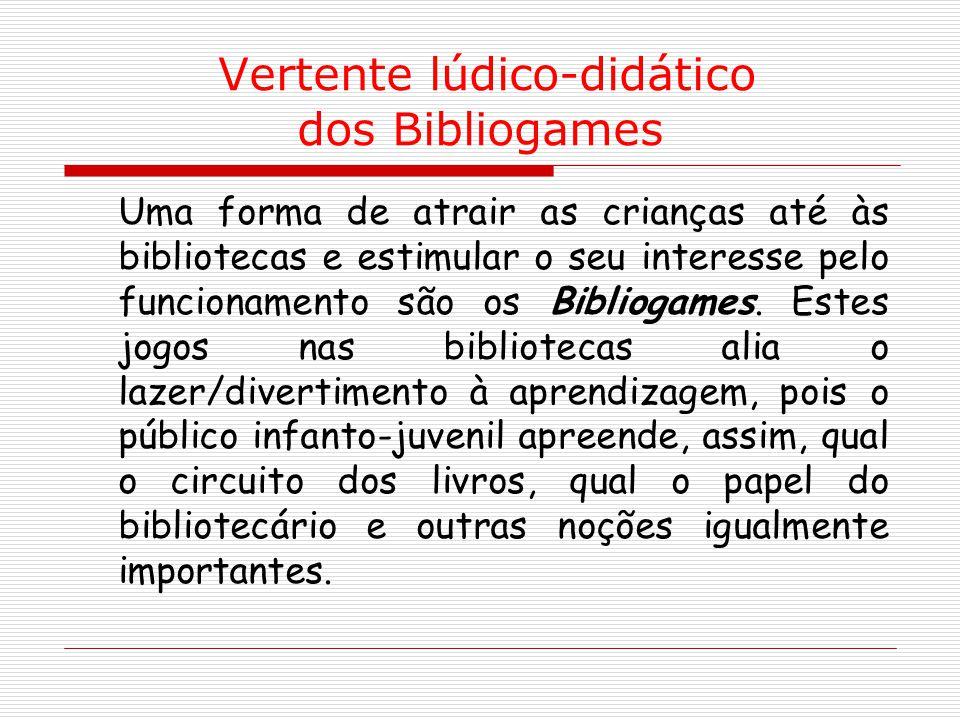 Vertente lúdico-didático dos Bibliogames