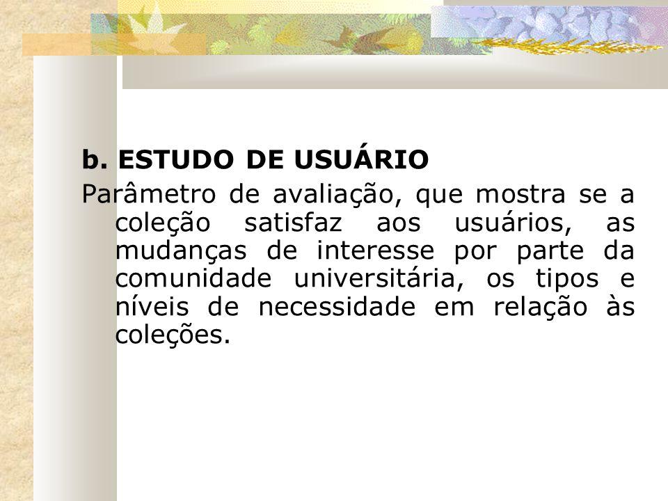 b. ESTUDO DE USUÁRIO