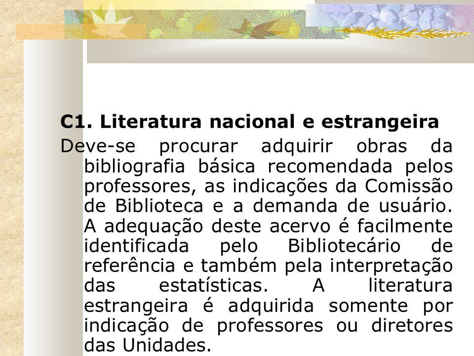 C1. Literatura nacional e estrangeira