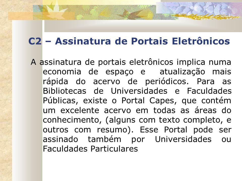 C2 – Assinatura de Portais Eletrônicos