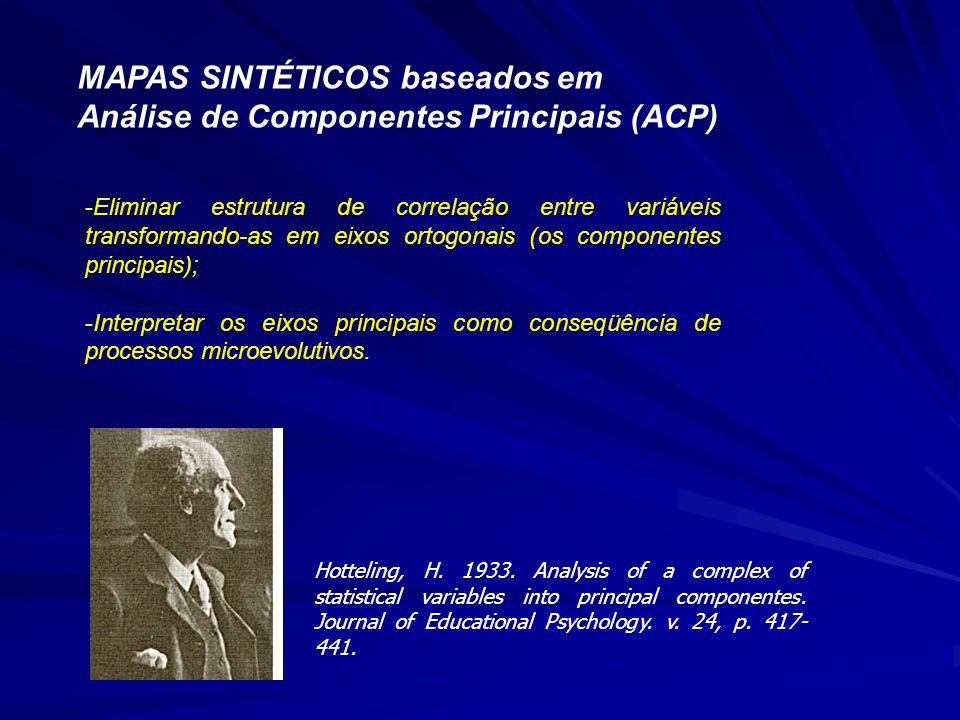 MAPAS SINTÉTICOS baseados em Análise de Componentes Principais (ACP)