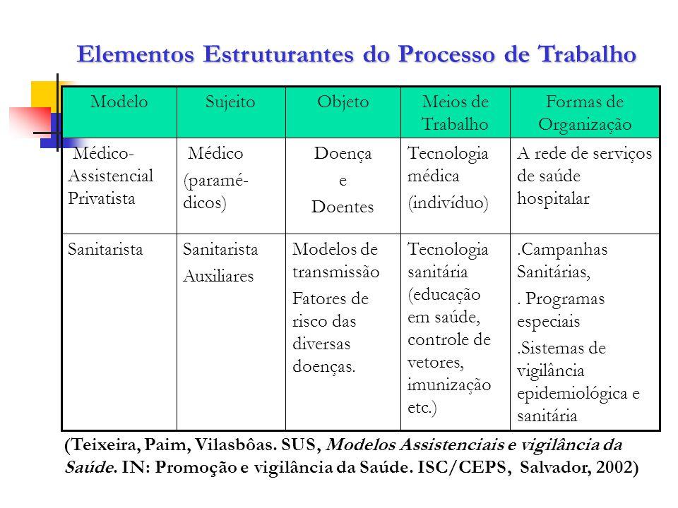 Elementos Estruturantes do Processo de Trabalho