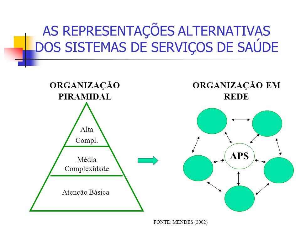 AS REPRESENTAÇÕES ALTERNATIVAS DOS SISTEMAS DE SERVIÇOS DE SAÚDE