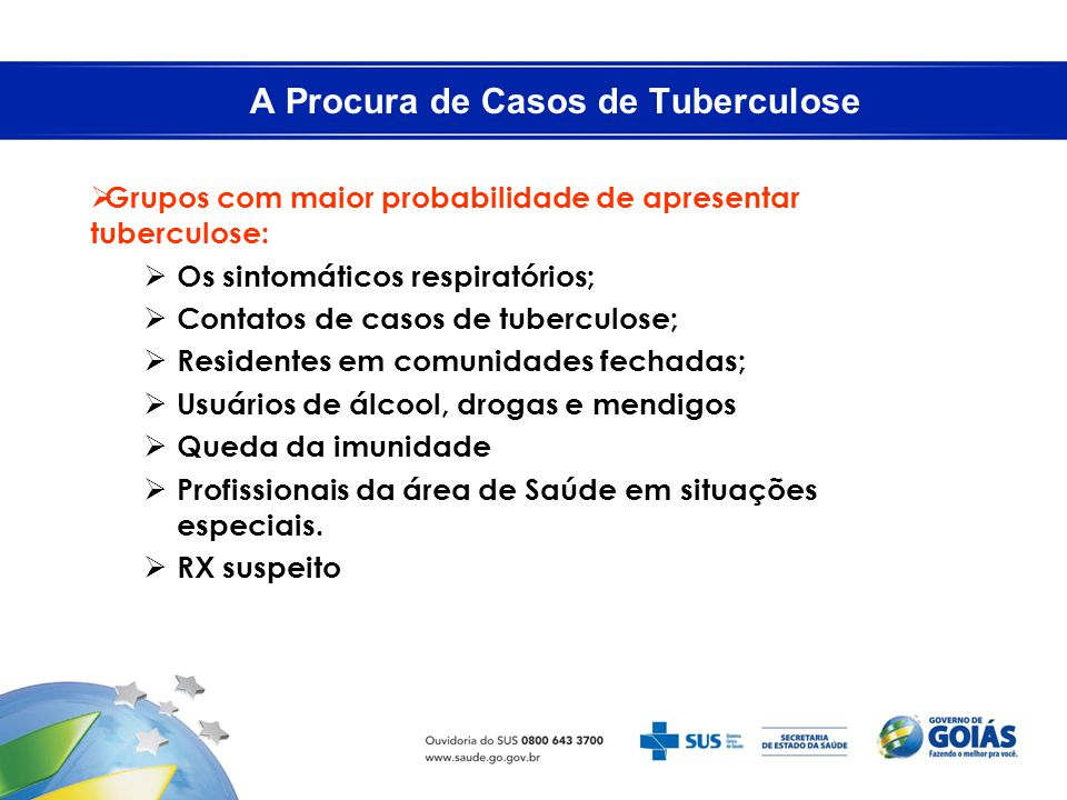 A Procura de Casos de Tuberculose