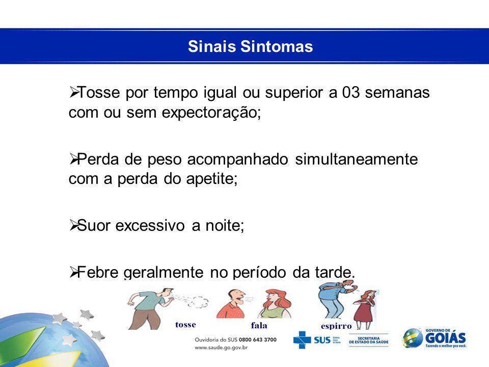 Sinais Sintomas Tosse por tempo igual ou superior a 03 semanas com ou sem expectoração;