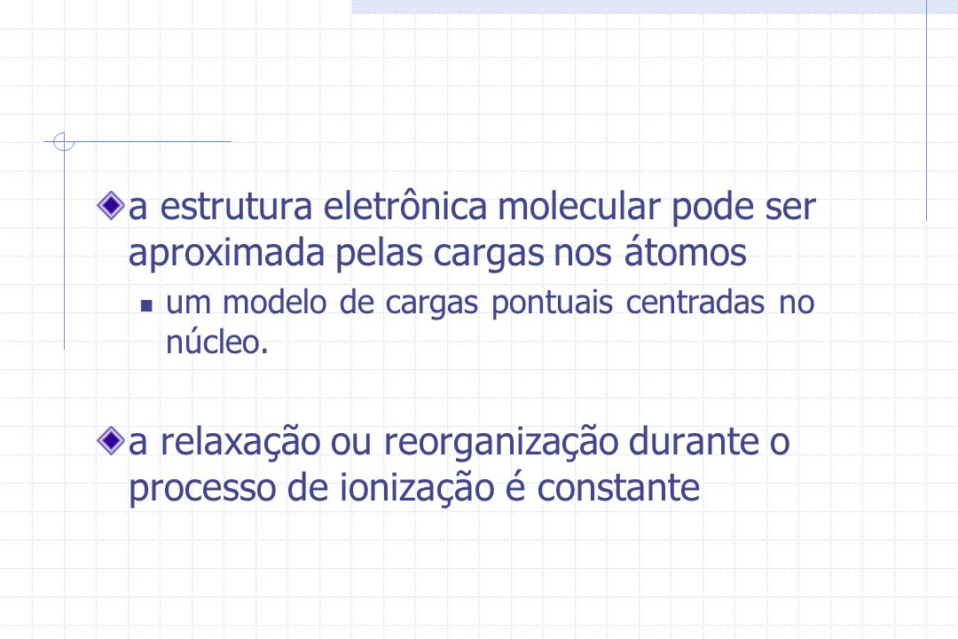 a estrutura eletrônica molecular pode ser aproximada pelas cargas nos átomos