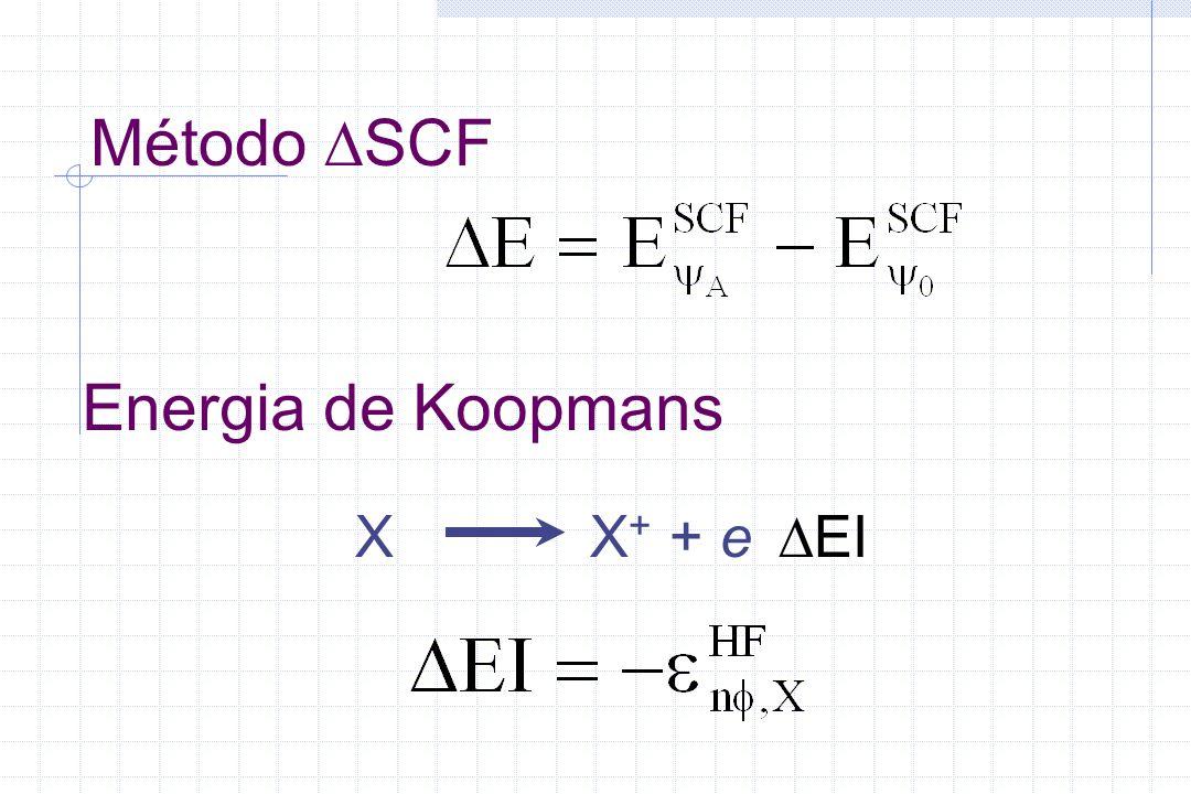 Método SCF X X+ + e EI Energia de Koopmans