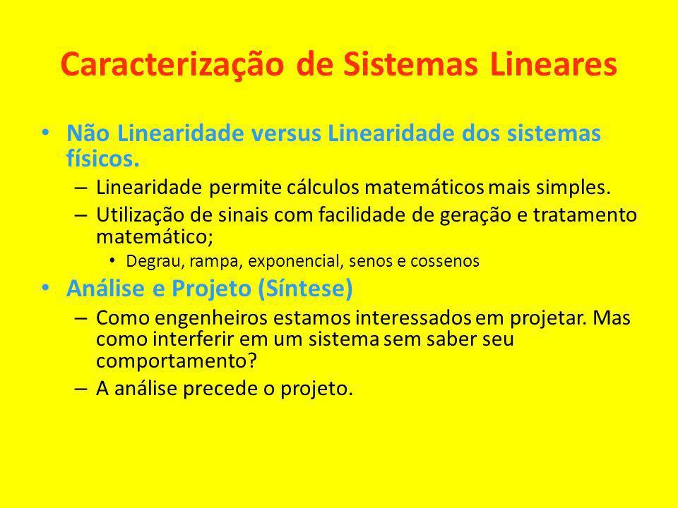Caracterização de Sistemas Lineares