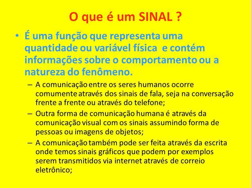 O que é um SINAL