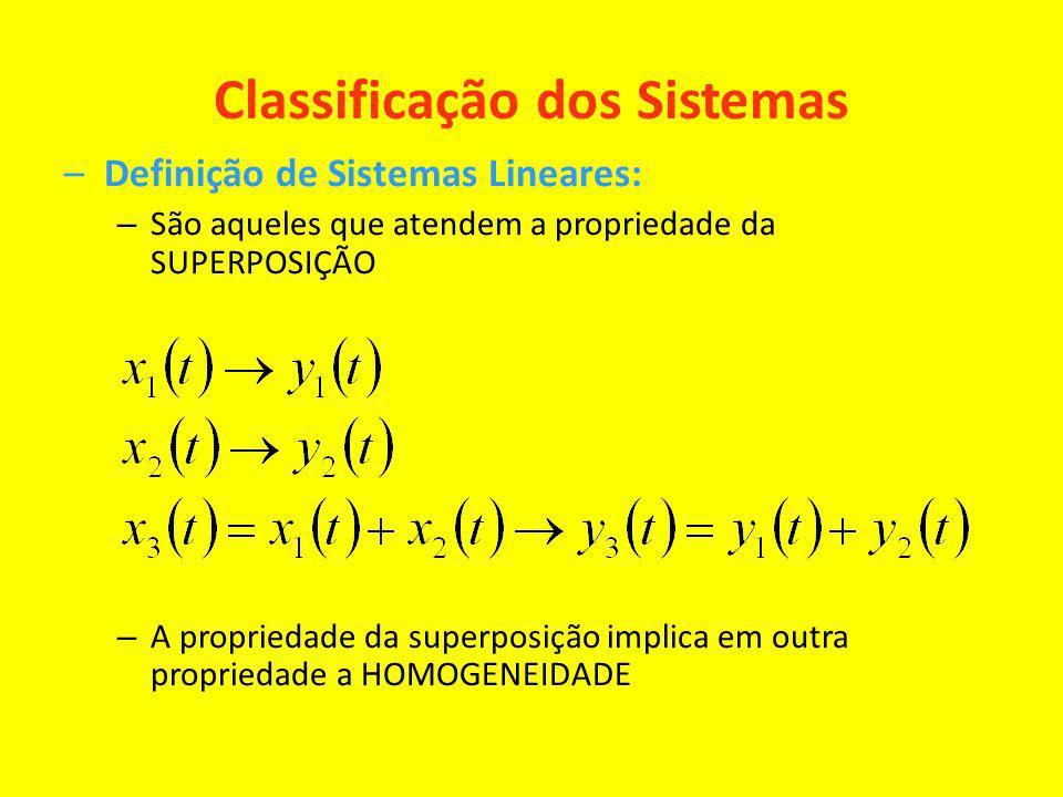 Classificação dos Sistemas