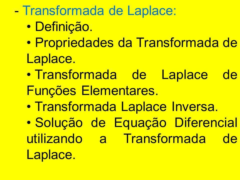- Transformada de Laplace: