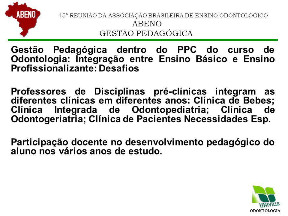 45ª REUNIÃO DA ASSOCIAÇÃO BRASILEIRA DE ENSINO ODONTOLÓGICO