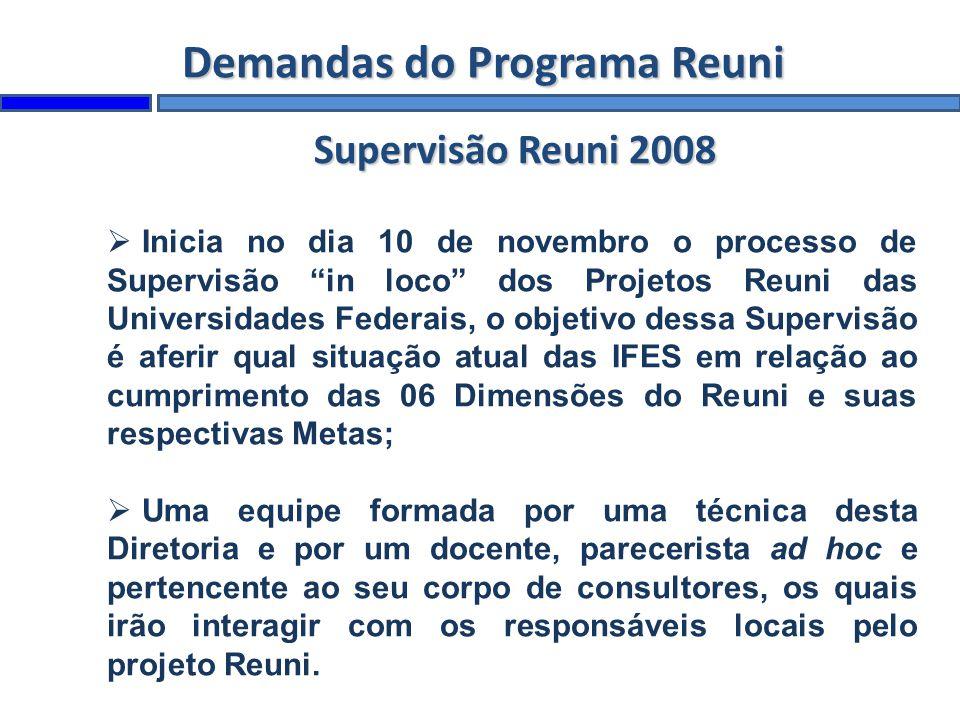 Demandas do Programa Reuni