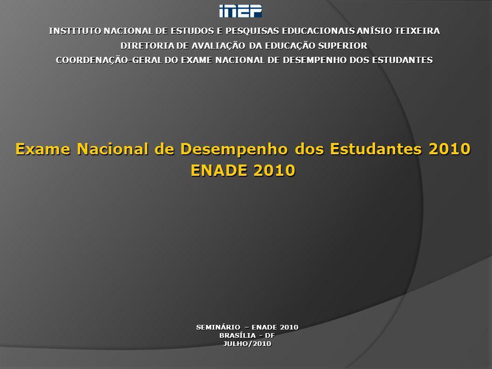 Exame Nacional de Desempenho dos Estudantes 2010 ENADE 2010