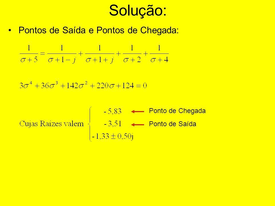 Solução: Pontos de Saída e Pontos de Chegada: Ponto de Chegada