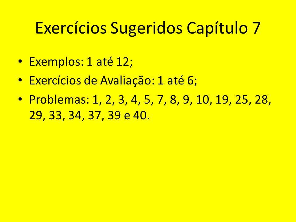 Exercícios Sugeridos Capítulo 7