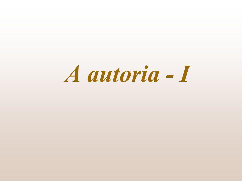 A autoria - I