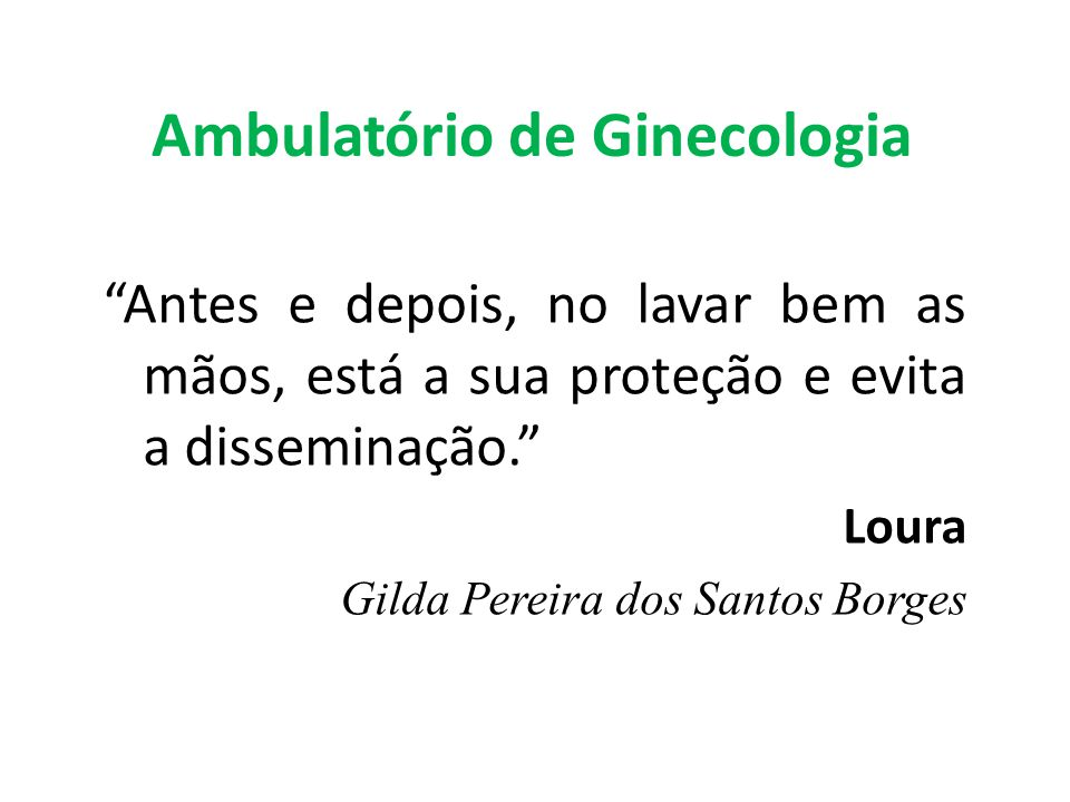Ambulatório de Ginecologia