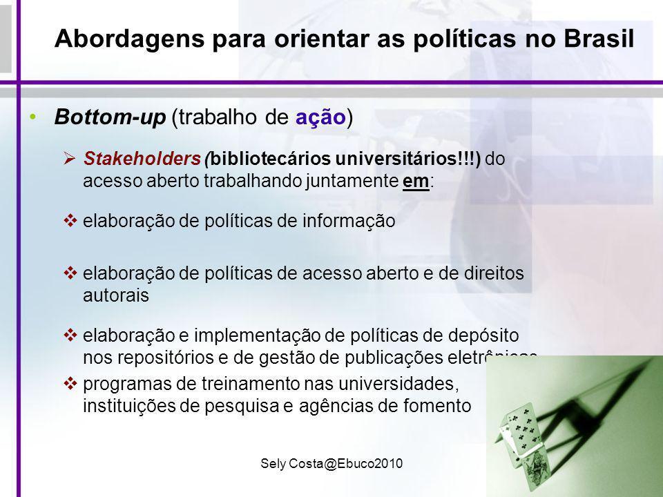 Abordagens para orientar as políticas no Brasil