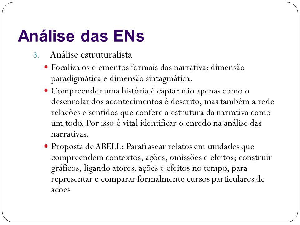 Análise das ENs Análise estruturalista