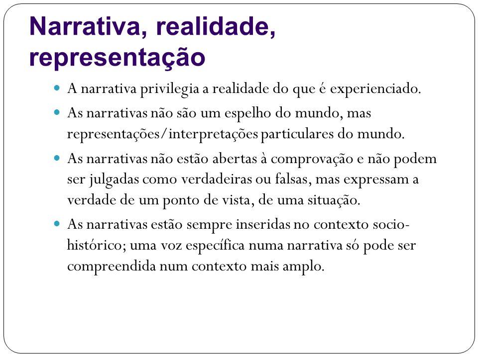 Narrativa, realidade, representação
