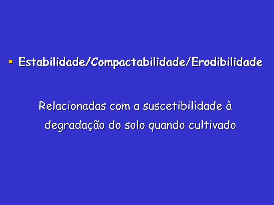 Estabilidade/Compactabilidade/Erodibilidade