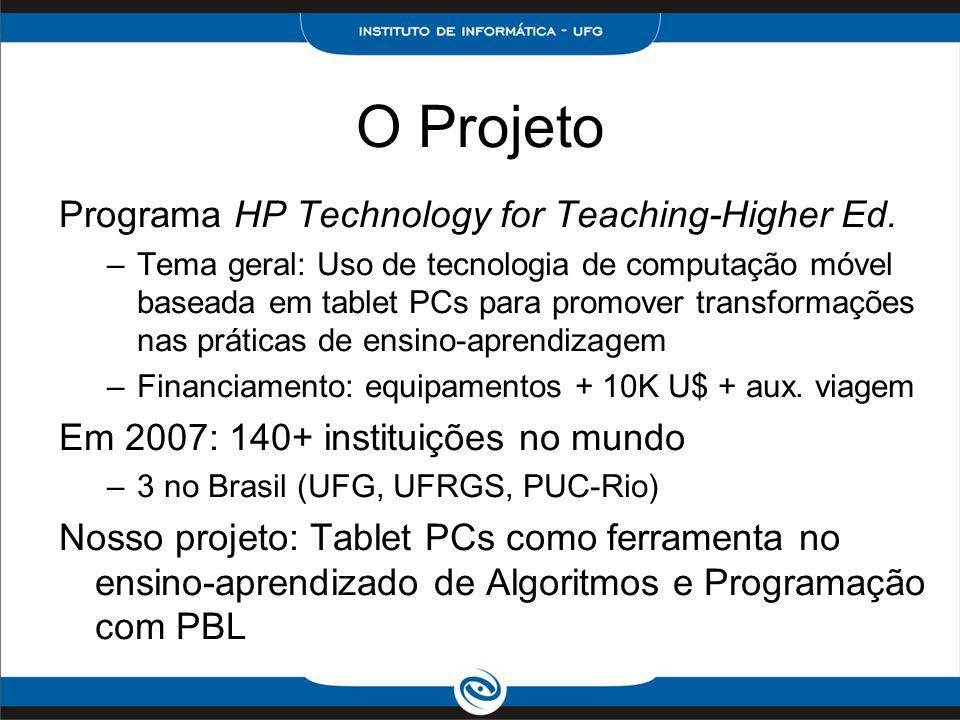O Projeto Programa HP Technology for Teaching-Higher Ed.