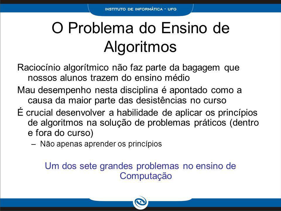 O Problema do Ensino de Algoritmos