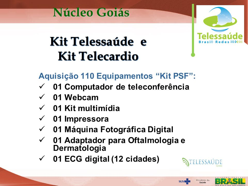 Kit Telessaúde e Kit Telecardio