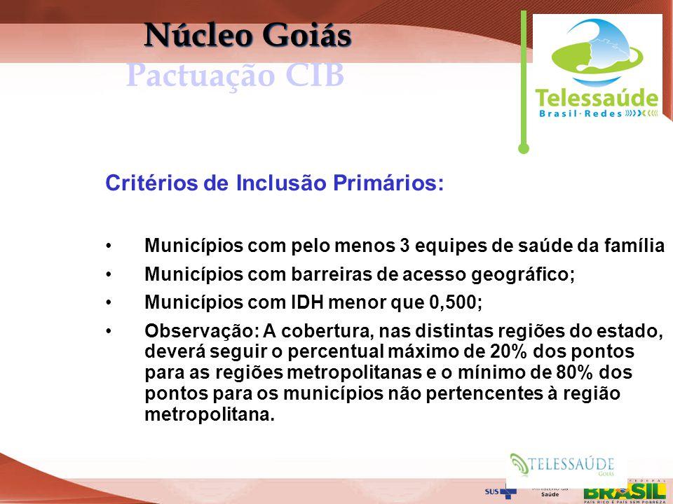 Núcleo Goiás Pactuação CIB
