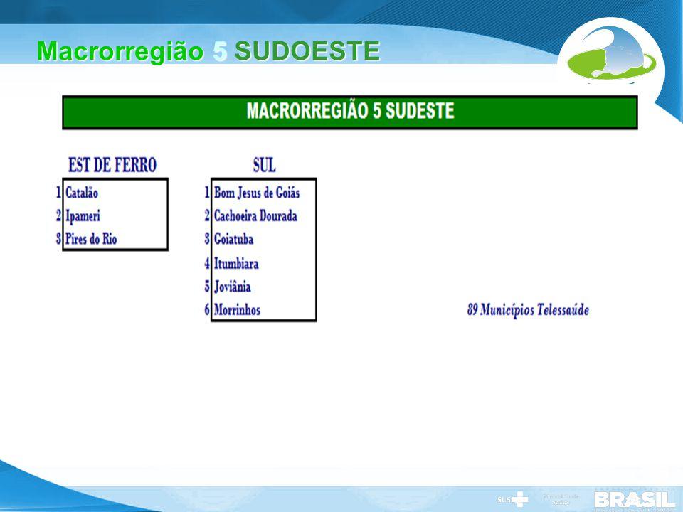 Macrorregião 5 SUDOESTE