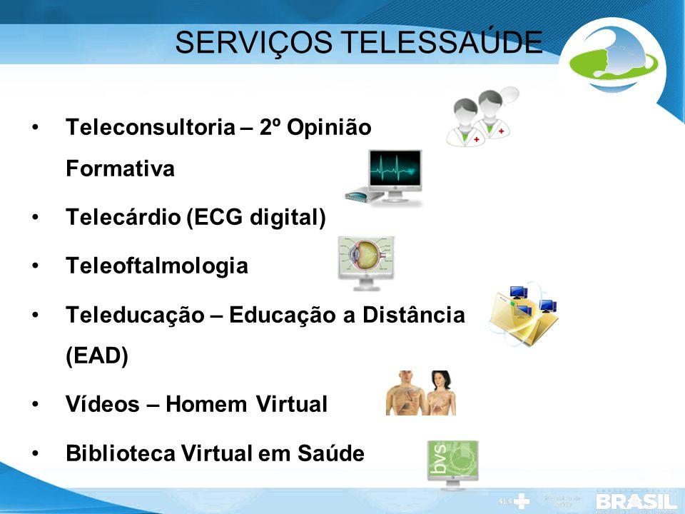 SERVIÇOS TELESSAÚDE Teleconsultoria – 2º Opinião Formativa