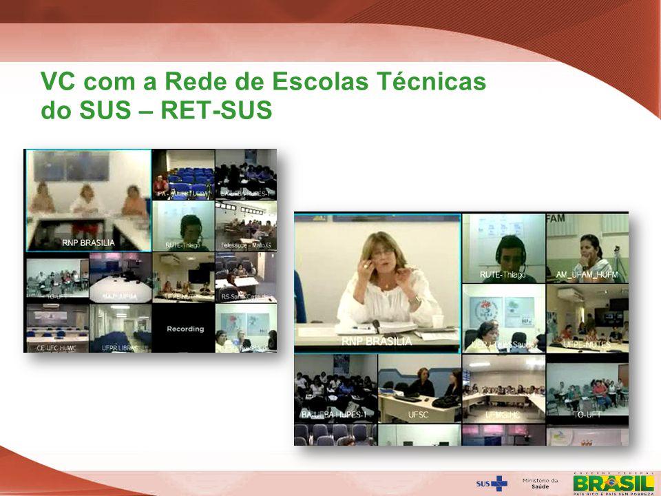 VC com a Rede de Escolas Técnicas do SUS – RET-SUS