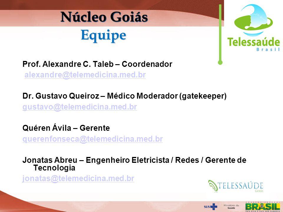 Núcleo Goiás Equipe Prof. Alexandre C. Taleb – Coordenador