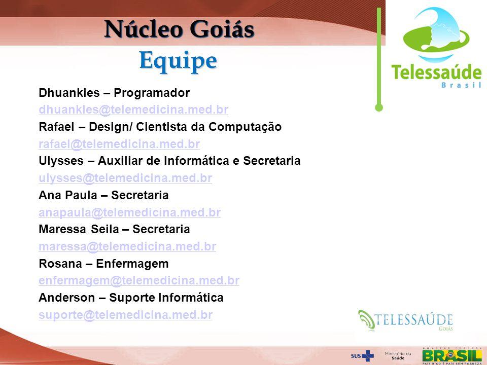 Núcleo Goiás Equipe Dhuankles – Programador
