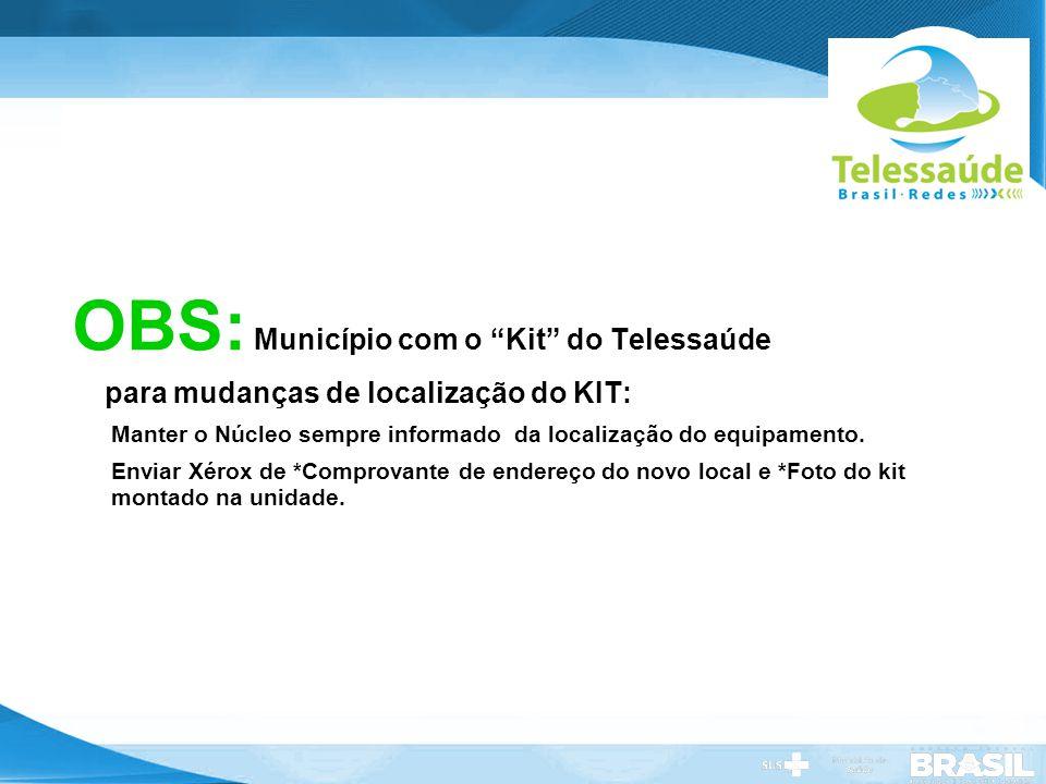OBS: Município com o Kit do Telessaúde