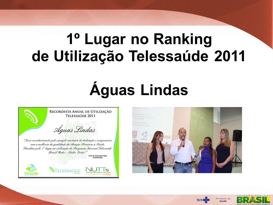 1º Lugar no Ranking de Utilização Telessaúde 2011
